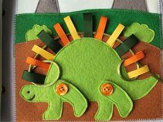 Montessori libro tranquila página con cordón actividad página