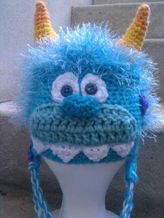 crochet hat patterns free pinterest | Monster Hat Free crochet pattern