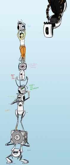 my favorite portal characters by ShinyVulpix.deviantart.com on @DeviantArt