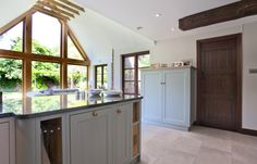 Bespoke Two Toned Kitchen | Solid Oak Furniture | Painted Kitchen | Handles Trays | Oak Handles