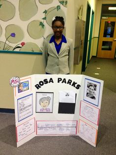 My daughter's Living Wax Museum as Rosa Parks