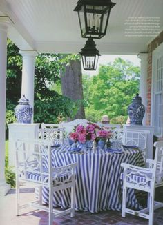 Charming outdoor dining