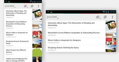 Pocket mobile interface.