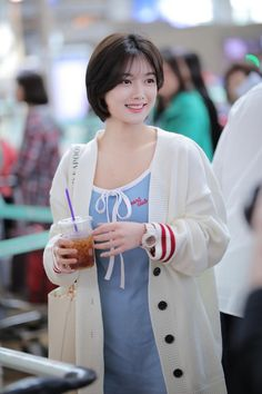 Kim Yoo Jung (To Macau Kim Yoo Jung Fashion, Hair Style Korea, Kim Joo Jung, Korean Short Hair, Shot Hair Styles, Girl Celebrities, Pinterest Hair, Chinese Actress, Hair Goals