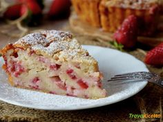 Torta Cremosa alle Fragole  #ricette #food #recipes