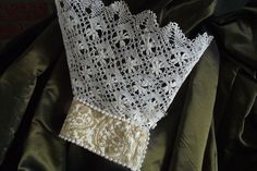 pearl trimmed antique lace ruff sleeves by TudorCourtClothing, £10.00