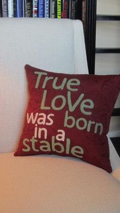 True love was born in a stable by agraceunlimited on Etsy, $95.00