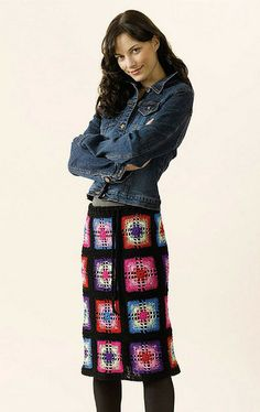 Crochet Granny Square Skirt, de Doris Chan. http://www.ravelry.com/patterns/library/crochet-granny-square-skirt