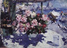 Розы. 1912. Коровин Константин Алексеевич (1861-1939)