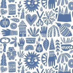 Cloud9 Fabrics - Organic Cotton - Kindred - Fable Blue - Poplin by the Yard