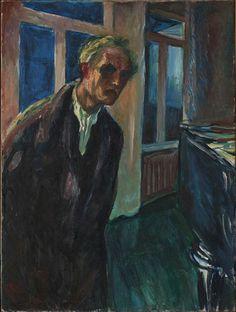 Edward Munch, Self-portrait. The night wanderer., 1923-24. Munch Museum, Oslo