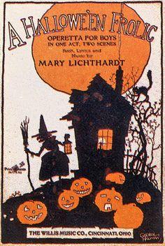 Vintage Hallowe'en Frolic Art ... Think my next Halloween party should be A Halloween Frolic.
