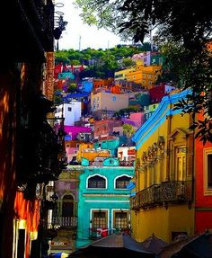 What does it say about the spirit of the people of a town who paint their houses in these joyous colors? What's your favorite spot of color here?