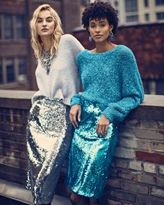 Sequins for winter ❄️ Look Fashion, Autumn Fashion, Fashion Outfits, Womens Fashion, Fashion Trends, Insta Look, Evening Outfits, Partys, Holiday Outfits