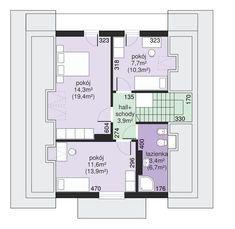 Rzut Dom przy Cyprysowej CE Dom, Floor Plans, Flooring, How To Plan, Houses, Wood Flooring, Floor Plan Drawing, Floor, House Floor Plans