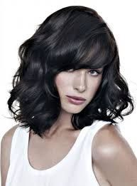 Resultado de imagen para flequillo para cabello ondulado