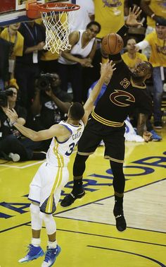 88a95d7b51d Lebron James blocked Stephen curry. watch the after reaction on youtube