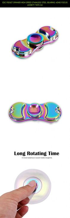 EDC Fidget Spinner High Speed Stainless Steel Bearing ADHD Focus Anxiety Toys (A) #camera #rainbow #kit #plans #stick #parts #spinner #gadgets #racing #drone #technology #fpv #tech #shopping #products