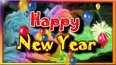 Happy New Year Video Greeting With Balloons