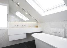 refurbished bathroom 2011 - a skylight added to racking ceiling