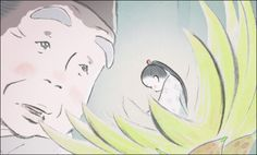 Kaguya Hime - Princess Kaguya by Isao Takahata - Ghibli Isao Takahata, Grave Of The Fireflies, First Animation, Studio Ghibli Movies, First Art, Hayao Miyazaki, Animated Cartoons, Watercolor Design, Conte