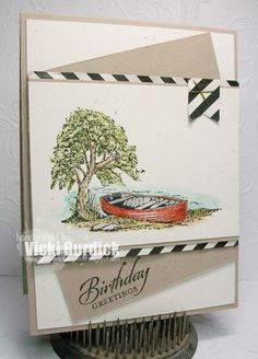 It's a Stamp Thing: Crazy 4 Challenges....Masculine Birthday Greetings - SU Moon Lake - Wetlands