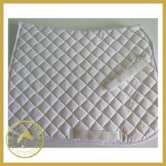 Celtic Equine White Plain Saddle Cloth