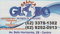 Eu recomendo Gráfica Globo- Centro, #Itauçu, #Goiás, #Brasil