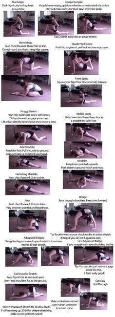 Stretches for flexibility!