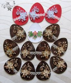 Fridge magnets by pinterzsu on DeviantArt Paper Quilling, Quilling Ideas, Quilling Cards, Easter 2020, Balerina, Spring Crafts, Easter Baskets, Easter Crafts, Magnets