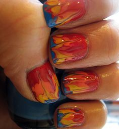 Girl on Fire manicure Inspired by The Hunger Games