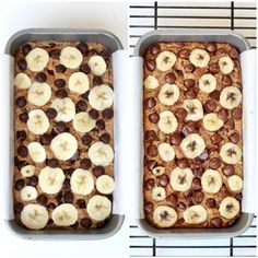 Flourless Chocolate Chip Banana Bread - Per slice this looks pretty low carb, just from the macros in the article Flourless Bread, Flourless Desserts, Flourless Chocolate, Chocolate Flavors, Vegan Desserts, Dessert Recipes, Peanut Butter Banana Bread, Banana Bread Recipes, Pumpkin Recipes