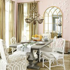 Pink White And Gold Dining Room Sofa Outlet Kitchen Living