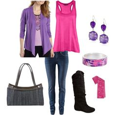 Purple-Pink, created by piratejenna on Polyvore