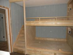 Corner Built In Bunk Beds Built in bunks with stairs
