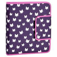 Gear-Up Dark Purple Kitten Homework Holder #pbteen