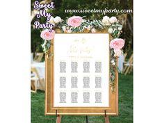 Wedding Seating Charts,Wedding Seating Plan,Gold Wedding seating chart,(025w)