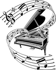 Learn To Play Piano - A Complete Beginners Guide.Intro: 7 Steps to Learn How to Play Piano. Step Getting Familiar with Your Notes. Music Notes Art, Music Pics, I Love Music, Music Pictures, Tatoo Music, Music Tattoos, Music Drawings, Music Artwork, Piano Art