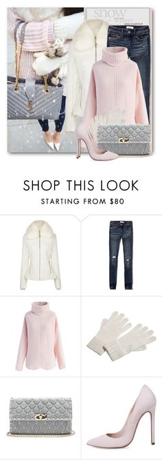 """Winter Jeans & Heels"" by brendariley-1 ❤ liked on Polyvore featuring Fusalp, Abercrombie & Fitch, Chicwish, agnès b., Valentino, Winter and snow"