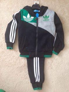 Boys Adidas 2 piece track set - Nan's Cuddle Bugs Green Stripes, Cuddle, Adidas Jacket, Bugs, Elastic Waist, Track, Black And White, Stylish, Fall