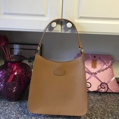 """Cole Haan Leather Hobo bag This stylish leather bag is just what we want for our next addition to our closet, beautiful made by Cole Haan in that stunning leather with gold hardware, H19""""W12"""" base 3"""" snap close Cole Haan Bags Hobos"""