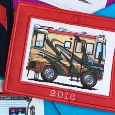 Motorhome Camper Christmas Ornament RV by MakingSomethingHappy