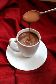 The Stay At Home Chef: Decadently Thick Italian Hot Chocolate This hot chocolate isn't for the faint of heart. It is rich, thick, and full of real chocolate. This is the kind of hot chocolate you make when you want to truly indulge! Hot Cocoa Recipe, Cocoa Recipes, Hot Chocolate Recipes, Vegetarian Chocolate, Sweet Recipes, Chocolate Smoothies, Chocolate Shakeology, Italian Hot Chocolate Recipe, Slow Cooker Hot Chocolate Recipe