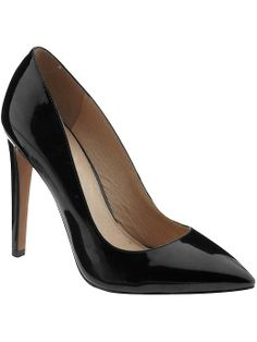 Pretty patent pump from ALDO Black Patent Leather Pumps, Black Pumps, Pointed Heels, Stiletto Heels, Interview Attire, Aldo Shoes, What To Wear, Fashion Accessories, My Style