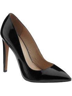 Pretty patent pump from ALDO Black Patent Leather Pumps, Black Pumps, Pointed Heels, Stiletto Heels, Interview Attire, Aldo, What To Wear, Fashion Accessories, My Style