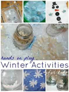 Winter Activities For Kids Winter Sensory Play and Learning