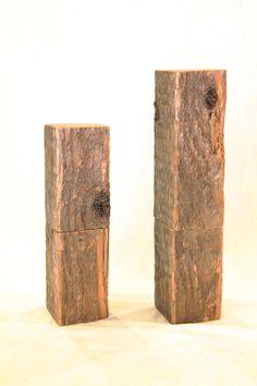 Square Pine Salt & Pepper Mill Set by woodscriptdesigns on Etsy, $159.00