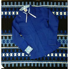 68222 Women's 2 Toned Zip Up Western Show Shirt Royal Highness French Blue NEW #RoyalHighness
