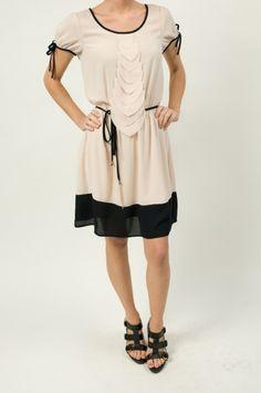 Beige Ruffle Chiffon Dress $58 http://www.shopmapel.com/products.html?productId=27076