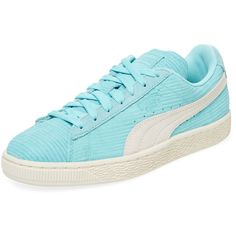 Puma Women's Suede Classic Bamboo Embossed Sneaker - Size 10 ($75) ❤ liked on Polyvore featuring shoes, sneakers, multi, bamboo shoes, laced up shoes, logo shoes, suede lace up shoes and lacing sneakers